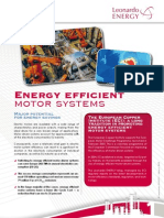Energy Efficient Motor Systems