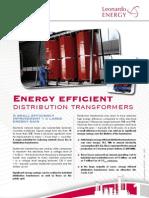 Energy Efficient Distribution Transformers