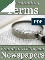 Understanding Newspaper Terms in Historical Newspapers