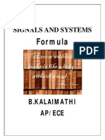 Signals and Systems(Ec2204) Formula