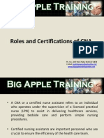 Roles & Certifications of CNA