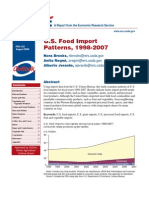 U.S. food import patterns