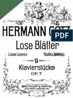 Goetz Lose Blatter Op.07