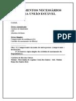 Documentos Necessarios Para Uniao Estavel