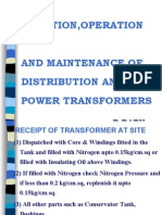 Erection and Maintenance of Transformers