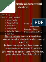 Efectul termic al curentului electric