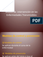 Modos de  intervención en las Enfermedades Transmisibles (1)