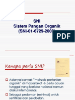 10. SNI Pangan Organik