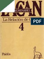Jacques Lacan - Seminario 4 - La Relación de Objeto