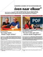 HBVL 8/11/'13 - Petra Foulon en Frank Daenen op de Boekenbeurs