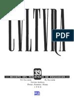 Revista Cultura 39