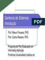 1 - Introdução à Gerência de Redes e Sistemas