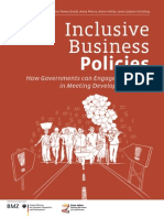 """Inclusive Business Policies - How Governments Can Engage Companies in Meeting Development Goals"""