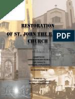 DINALUPIHAN RESTORATION OF ST.JOHN THE BAPTIST HURCH