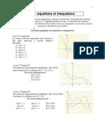 Equation Inequations