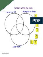 Venn Diagrams Starter
