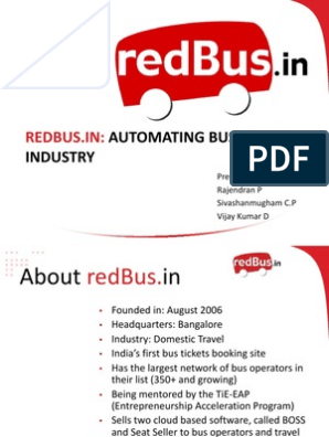 redbus-130901142241-phpapp01 pptx | Bus | Entrepreneurship