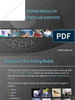 CCAC Training Module on Pain, Distress and Endpoints