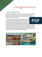 Contaminantes Naturales y Artificiales Mas Frecuentes en El Suelo