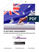 E-LECTORAL ENGAGEMENT Maintaining and Enhancing Democratic Participation Through Social Media