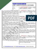 QUESTÃO COMENTADA 3 - ANÁLISE SINTÁTICA E PONTUAÇÃO - (CESPE)