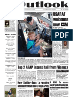 Outlook Newspaper  - 11 June 2009 - United States Army Garrison Vicenza - Caserma, Ederle, Italy