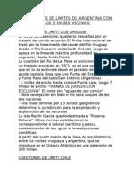 CUESTIONES DE LÍMITES DE ARGENTINA CON LOS 5 PAISES VECINOS