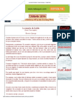 La Muerte de Isolda - Horacio Quiroga