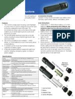 Vizeri VZ230 Compact Tactical LED Flashlight