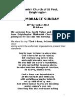 Remembrance Sunday 2013