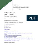 Soal UN Bahasa Inggris SMP 2009-Bahas