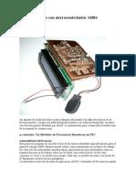 Frecuencímetro con microcontrolador 16f84
