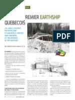 Visite du premier Earthship québécois
