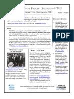 TPS-MTSU; Newsletter November 2013