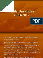 Emile Durkheim - Aula 2