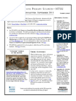 TPS-MTSU; Newsletter September 2013
