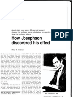 05 - How Josephson Discovered His Effect