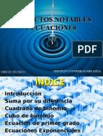 Productos Notables y Ecuaciones (Cristian Contreras Miranda)