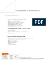 00-Synthese Des Modules Revit Architecture