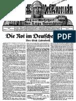 1929 Nr. 3, Die Not im Deutschen Volke; Ludendorffs Volkswarte, A3 Format