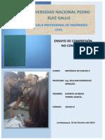 INFORME DE MECANICA DE SUELOS II COMPRESIÓN INCONFINADA