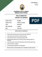 Final Exam January 2013