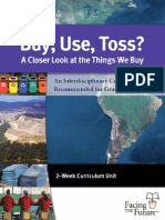 """Buy, Use, Toss"" Lesson Plans"