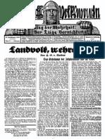1929 Nr. 21, Landvolk wehre Dich; Ludendorffs Volkswarte, A3 Format