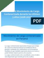 Análisis del Movimiento de Carga Contenerizada durante los últimos 5 años (2008-2012)