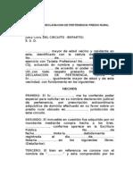 Declaracion de Pertenencia-ley 1564 de 2012-Rural
