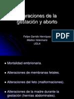 6º Clase, Alteraciones de la gestacion y aborto