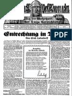 1929 Nr. 33, Entrechtung in Bayern; Ludendorffs Volkswarte, A3 Format
