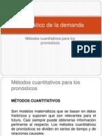 2.3 Métodos cuantitativos para los pronósticos