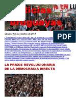 Noticias Uruguayas sábado 9 de noviembre del 2013